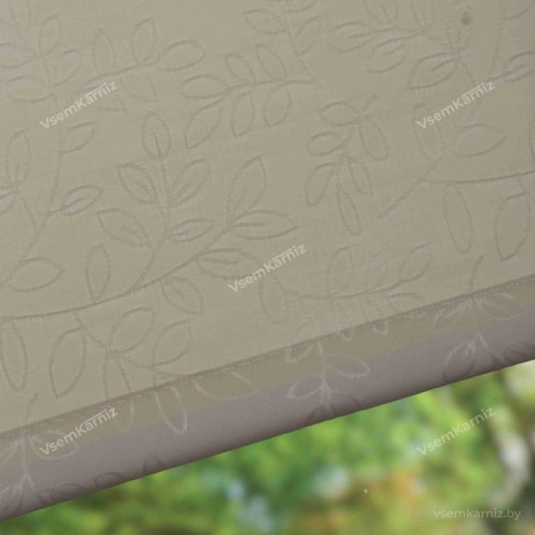 Рулонная штора LmDecor «Сакура 02» Бежевая с комплектом алюминиевых направляющих