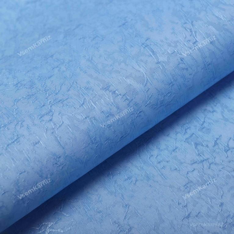 Рулонная штора LmDecor «Жаккард 06» Голубая в коробе с направляющими