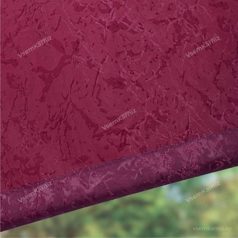 Рулонная штора LmDecor «Жаккард 31» бордовая с комплектом алюминиевых направляющих