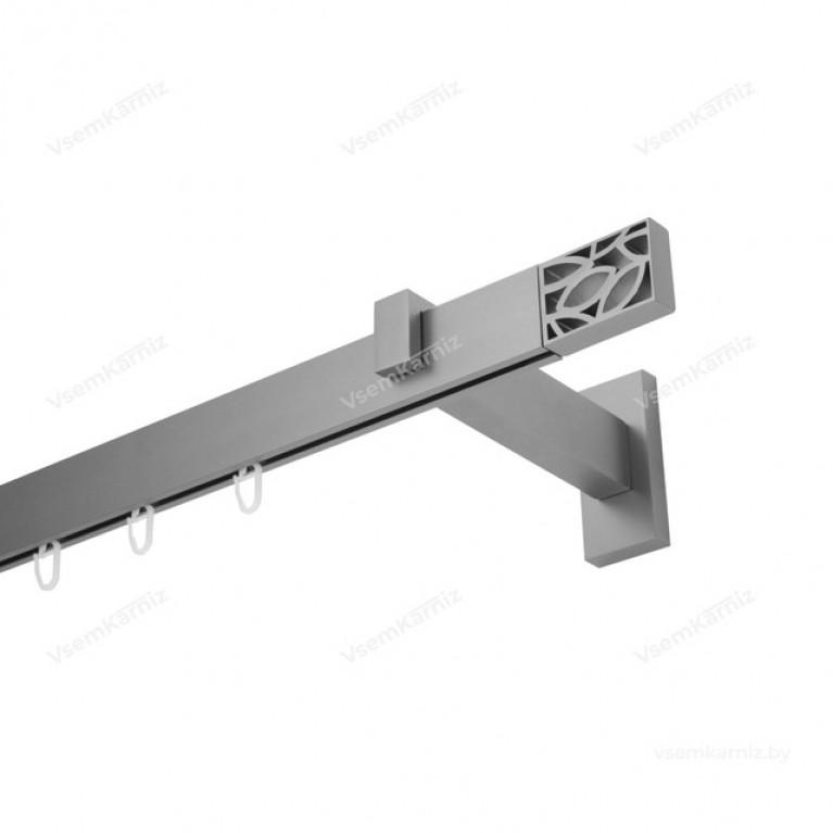 Карниз Флэт профиль «Лайн» Грид 31*13мм сатин