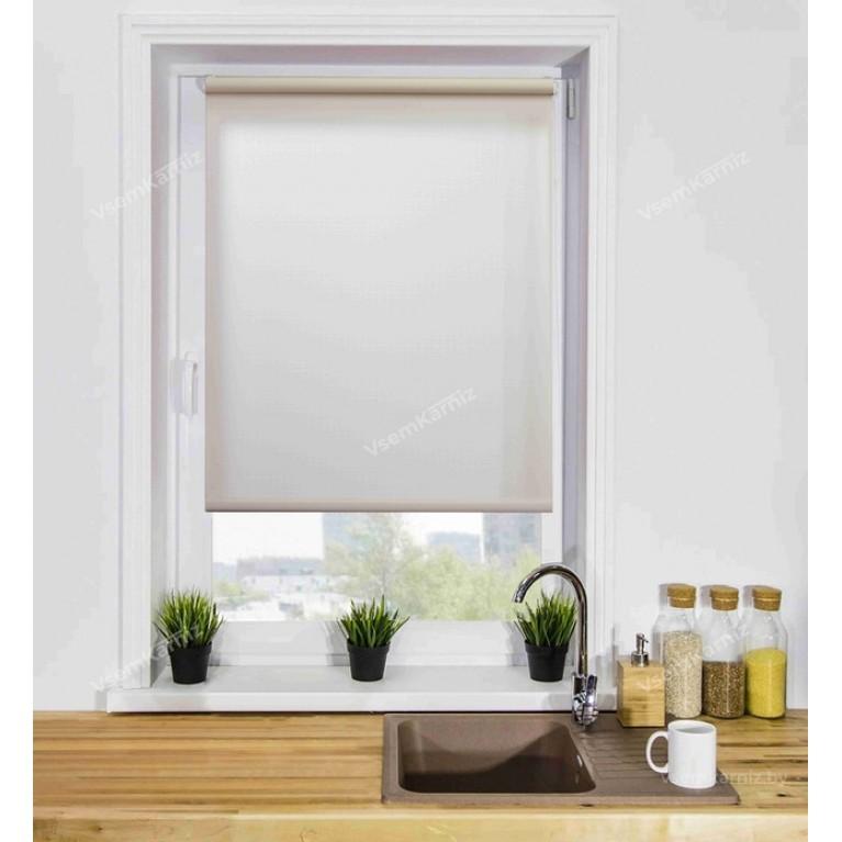 Рулонная штора «Лайт 02» Белая