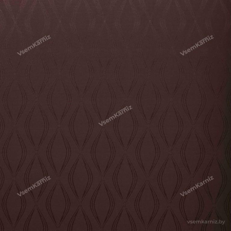 Рулонная штора LmDecor «Инфинити 02» коричневая с комплектом алюминиевых направляющих
