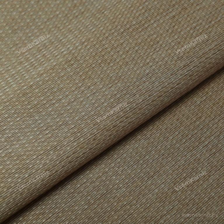 Рулонная штора LmDecor  «Камелия 03» серо-песочная с комплектом направляющих