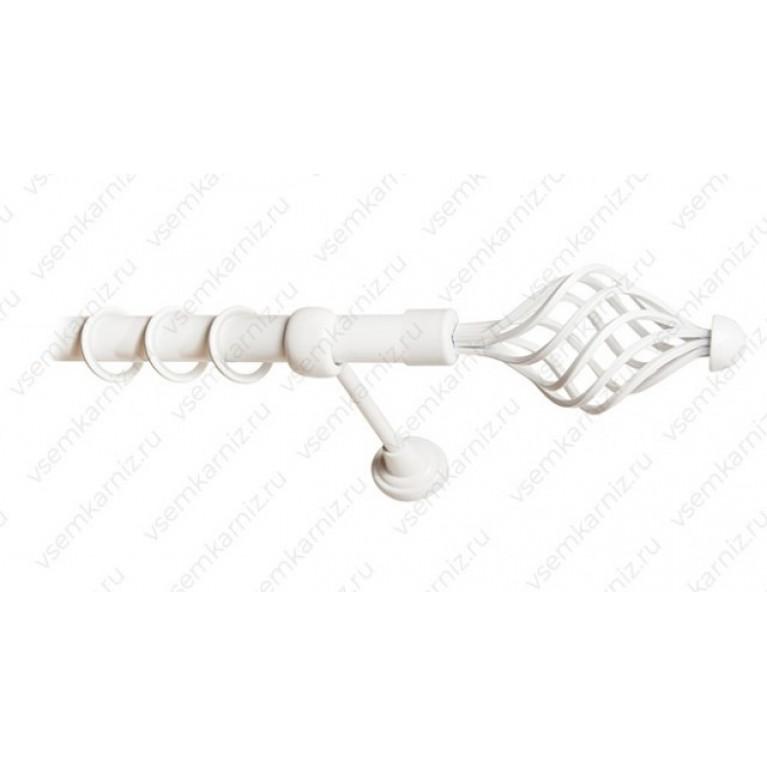 Карниз «Вираж» 25мм Белый глянец