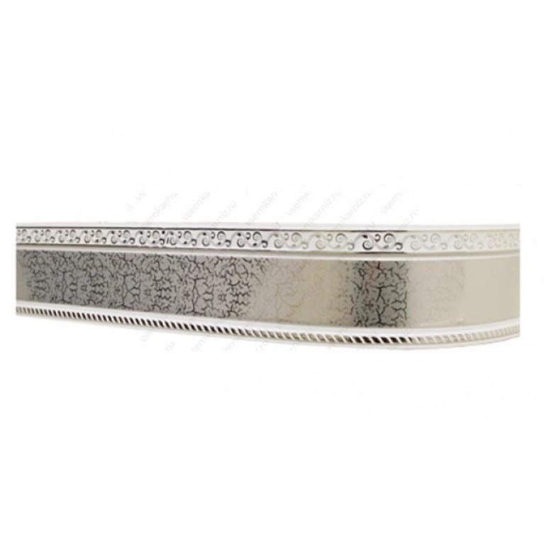 Карниз с багетом «Есенин» элегант серебро 7см