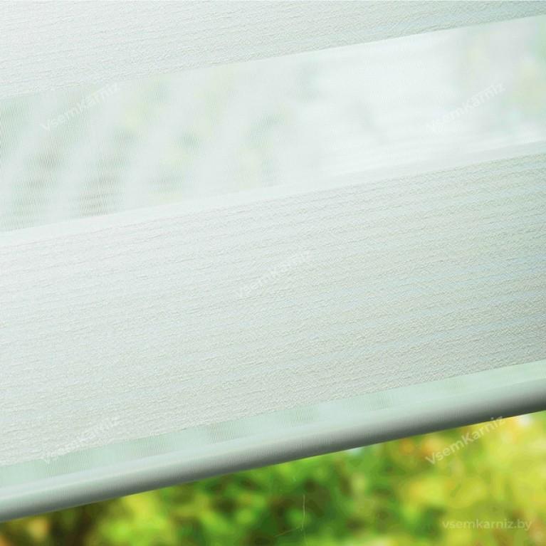 Рулонная штора LmDecor День-Ночь «Марсель 01» Белая с комплектом направляющих