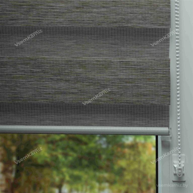 Рулонная штора День-Ночь «Винтаж 03» с комплектом алюминиевых направляющих
