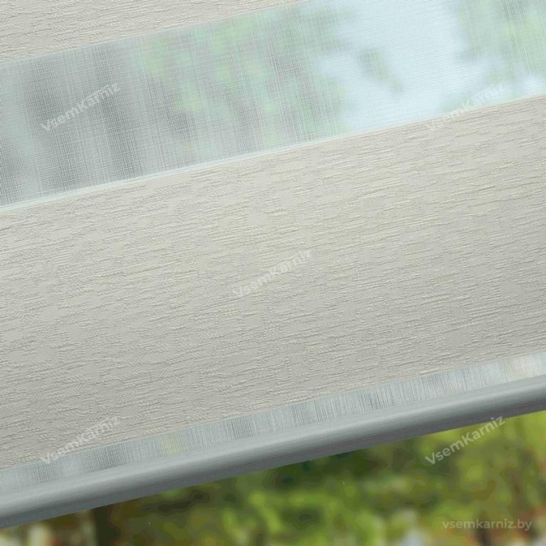 Рулонная штора День-Ночь «Сити 01» с комплектом алюминиевых направляющих