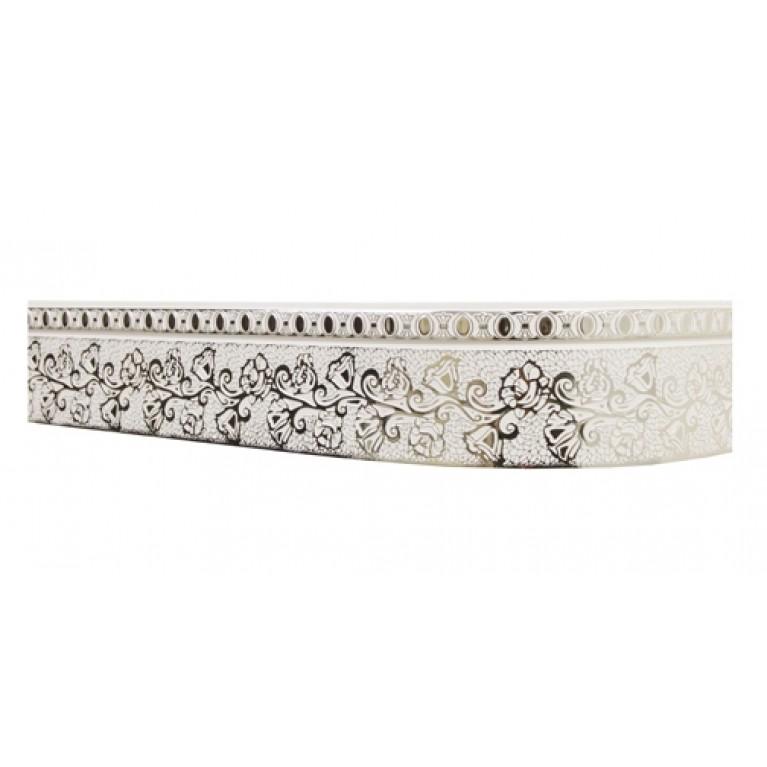 Лента «Кружево» Белое серебро 7см