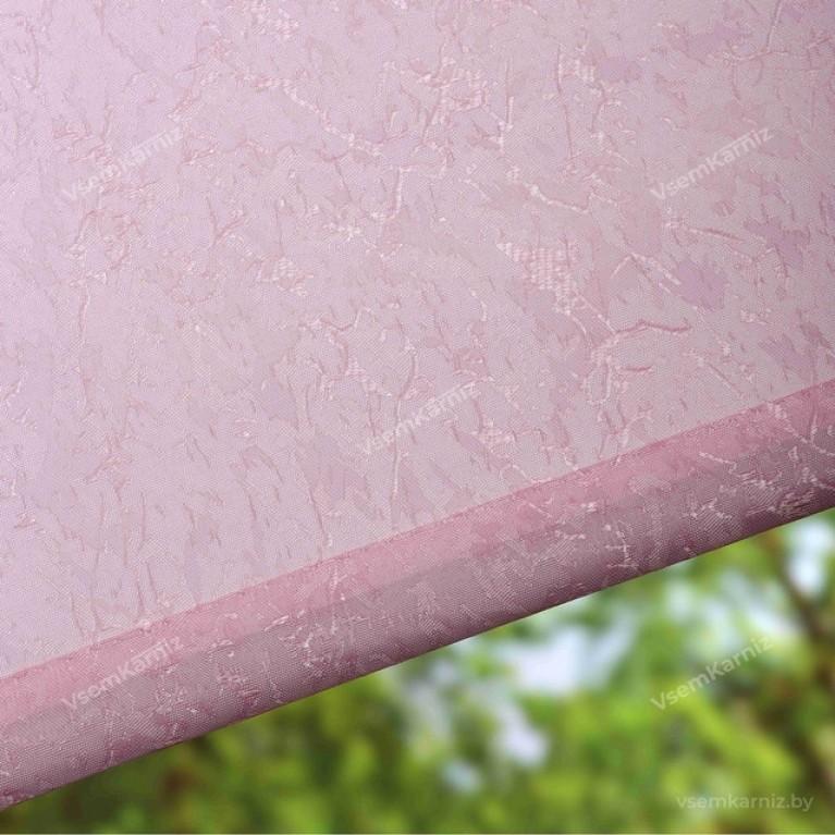 Рулонная штора LmDecor «Жаккард 08» Розовая UNI 2 в алюминиевом коробе с направляющими