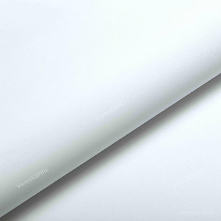 Рулонная штора LmDecor БЛЭКАУТ «Симпл 01» Белая с комплектом направляющих