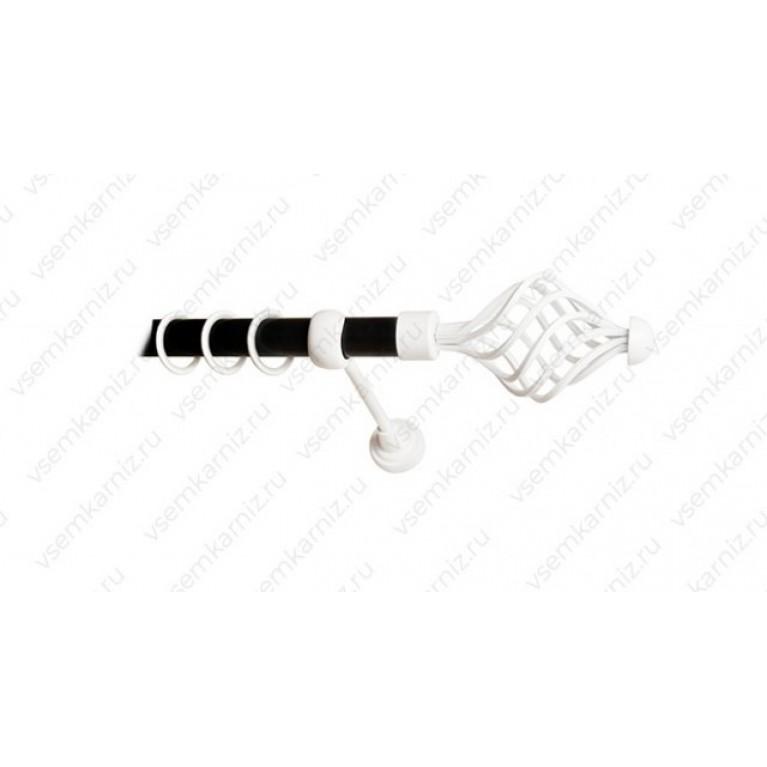 Карниз «Вираж» 19мм combi черный матовый