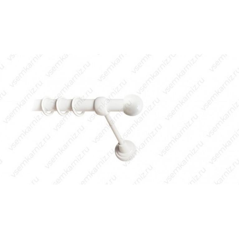 Карниз «Шар малый» 19мм белый глянец , черный матовый