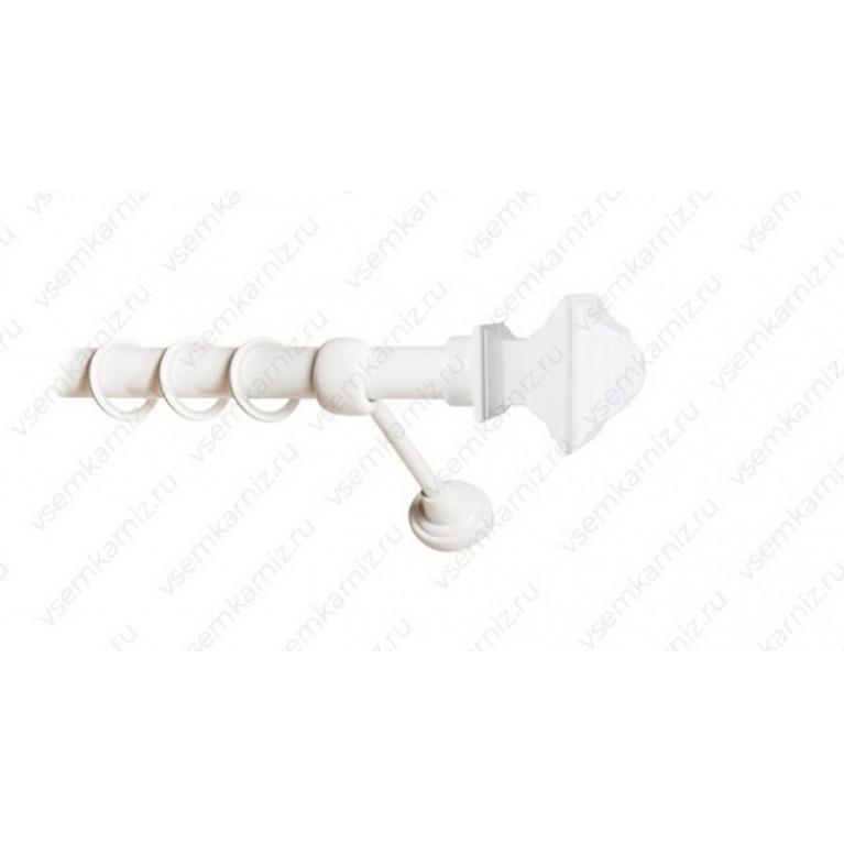 Карниз «Верди» 25мм Белый глянец