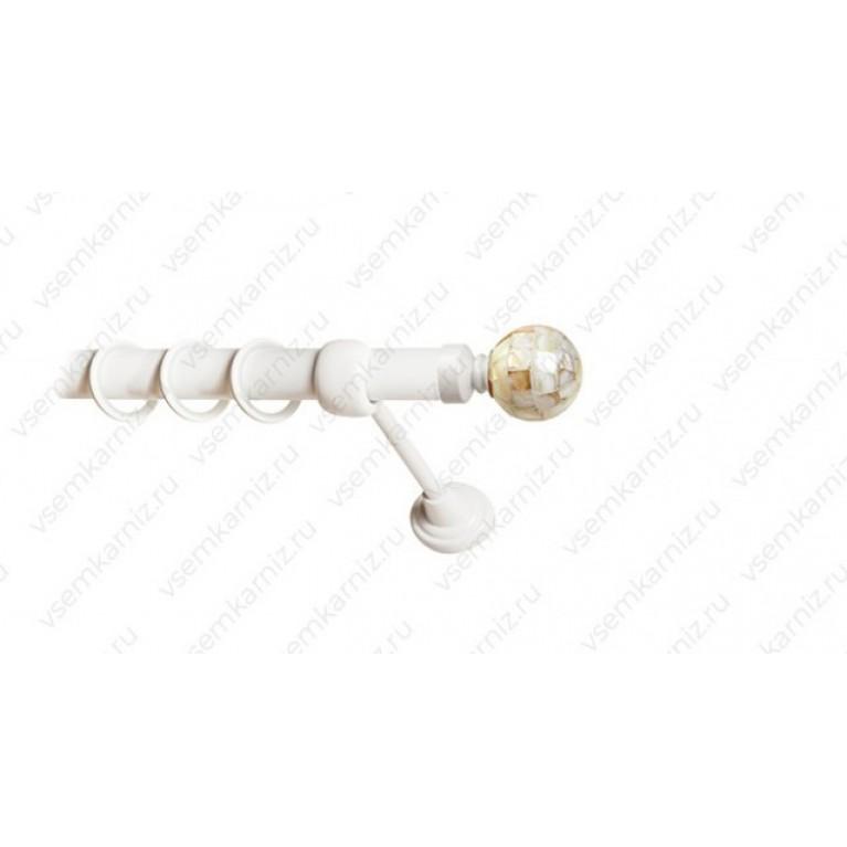 Карниз «Шар перламутр» 25мм Белый глянец