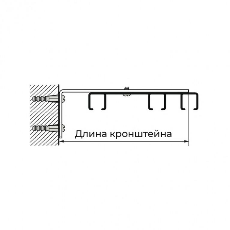 Профиль Алюминиевый D8 «PREMIUM» трёхрядный
