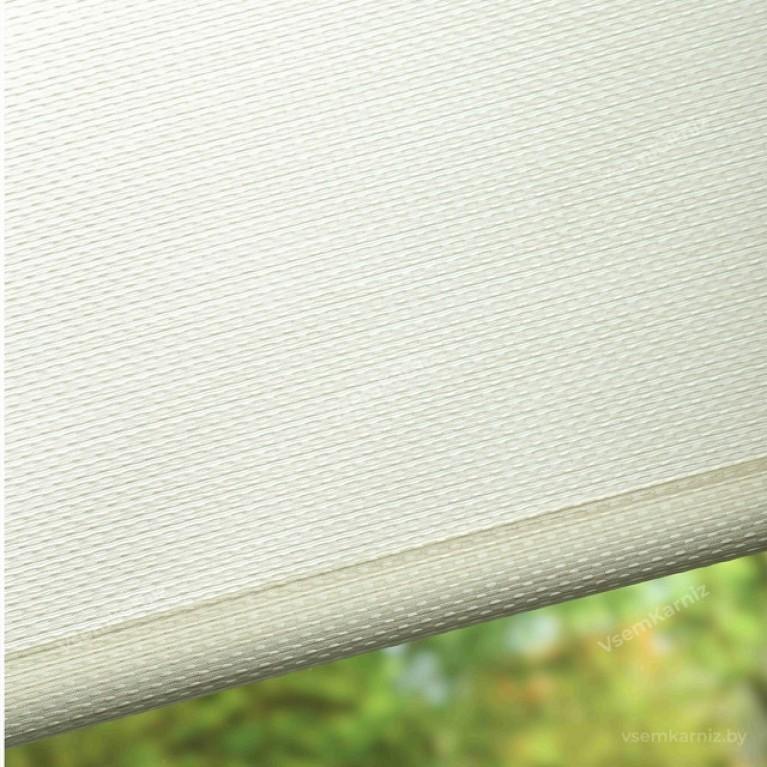 Рулонная штора LmDecor  «Камелия 01» топлёное молоко с комплектом направляющих
