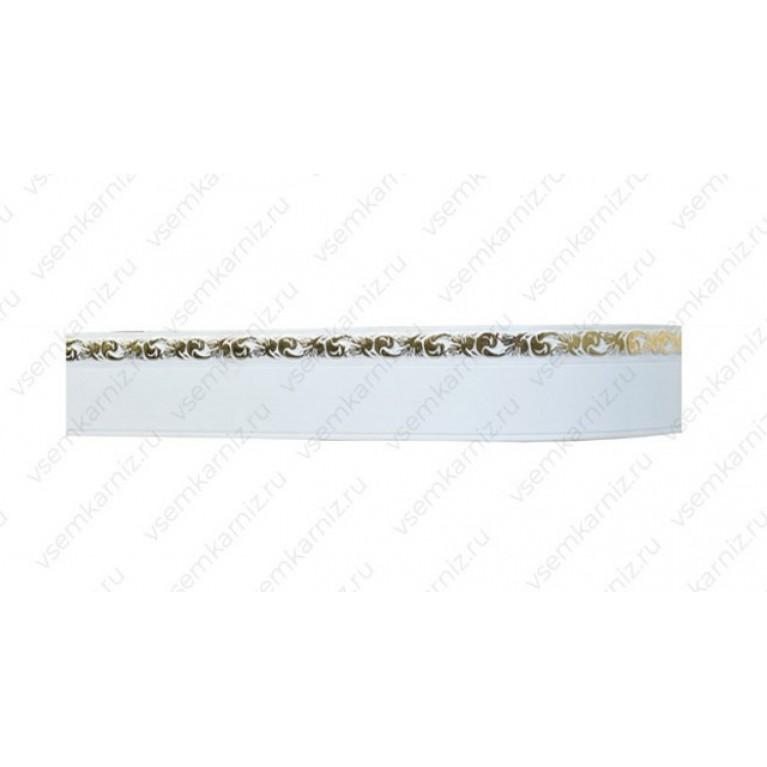 Карниз с багетом «Ажур А3» Белое золото 5см