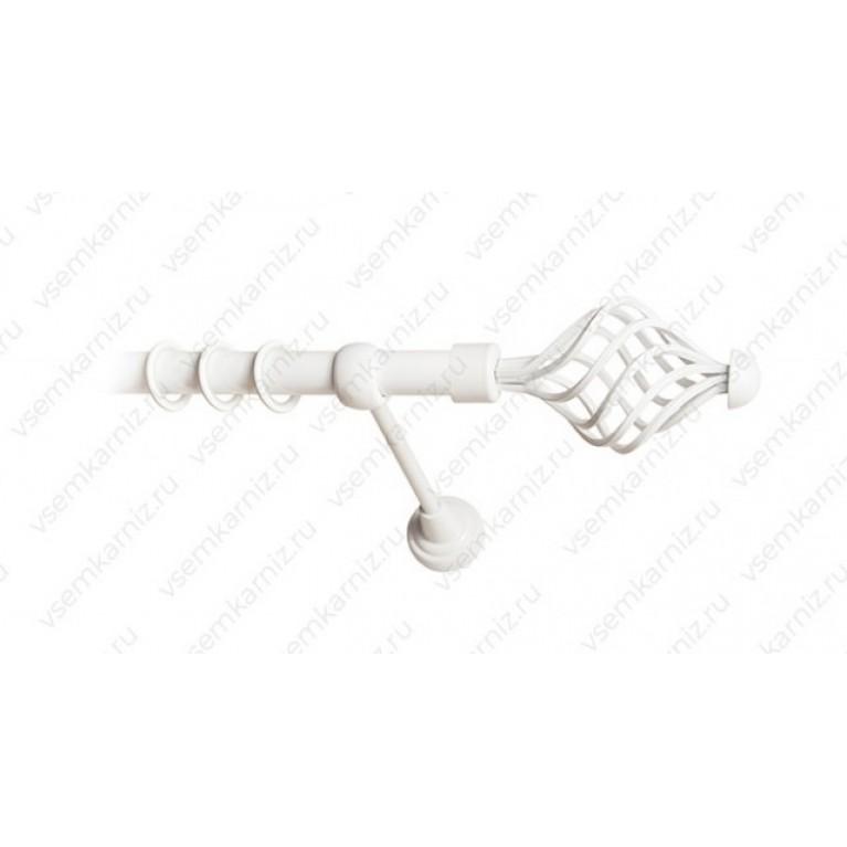 Карниз «Вираж» 19мм Белый глянец