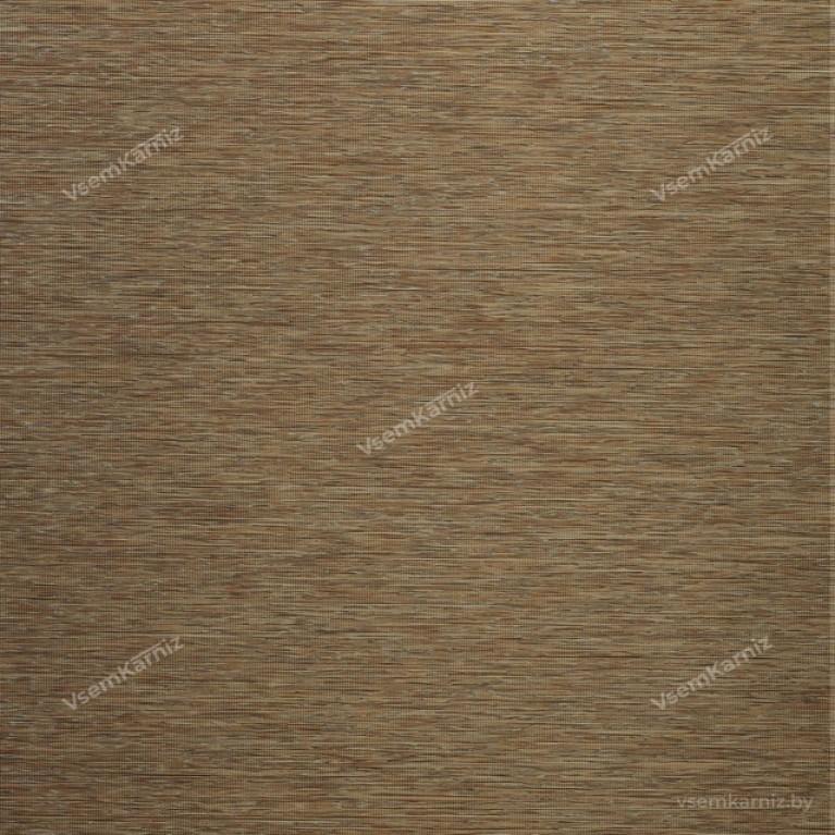 Рулонная штора LmDecor «Кантри 03» светло-коричневая с комплектом алюминиевых направляющих