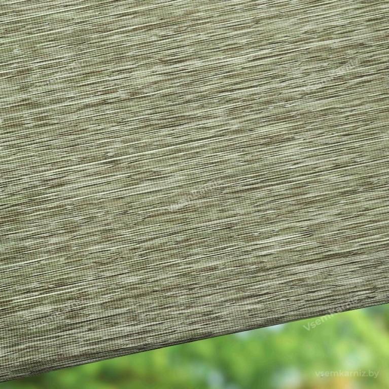 Рулонная штора LmDecor «Кантри 04» оливковая в коробе с направляющими