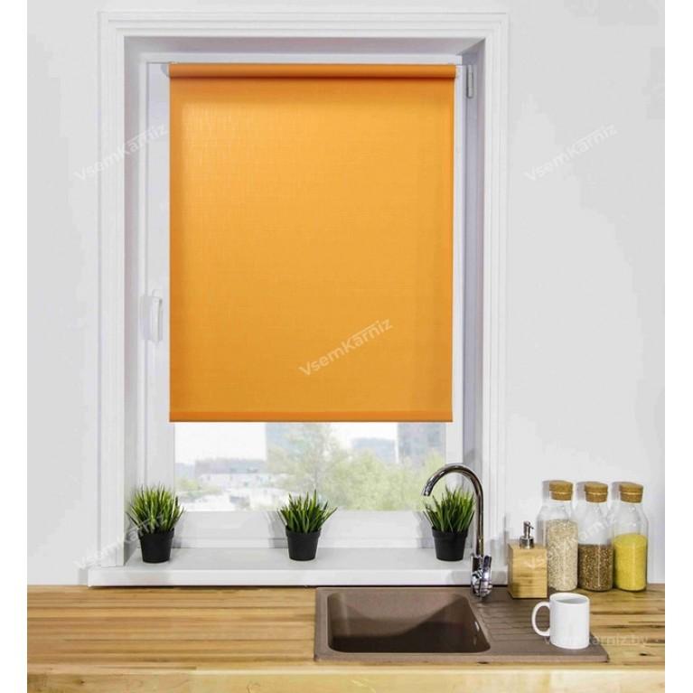 Рулонная штора «Лайт 03» Оранжевая