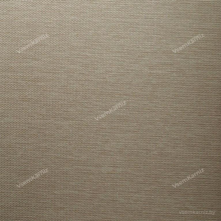 Рулонная штора LmDecor «Камелия 03» серо-песочная в коробе с направляющими