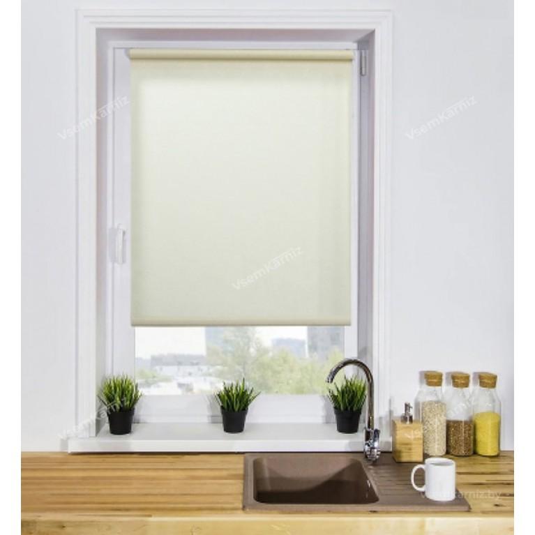 Рулонная штора «Сакура 01» Белая