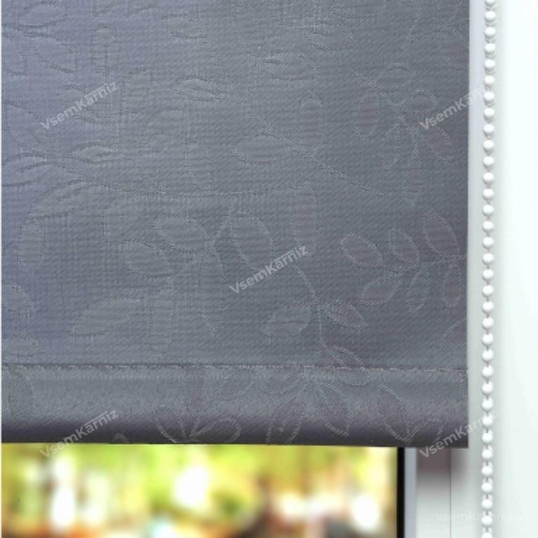 Рулонная штора LmDecor «Сакура 03» Серая с комплектом алюминиевых направляющих