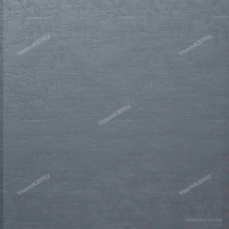 Рулонная штора LmDecor «Сакура 03» Серая в коробе с направляющими