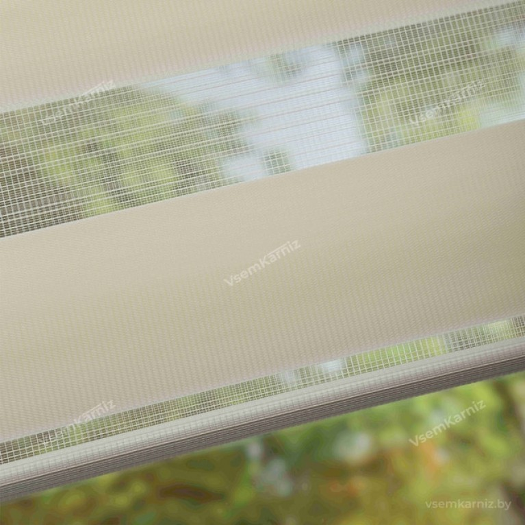 Рулонная штора LmDecor День-Ночь «Грация 14» Персиковая