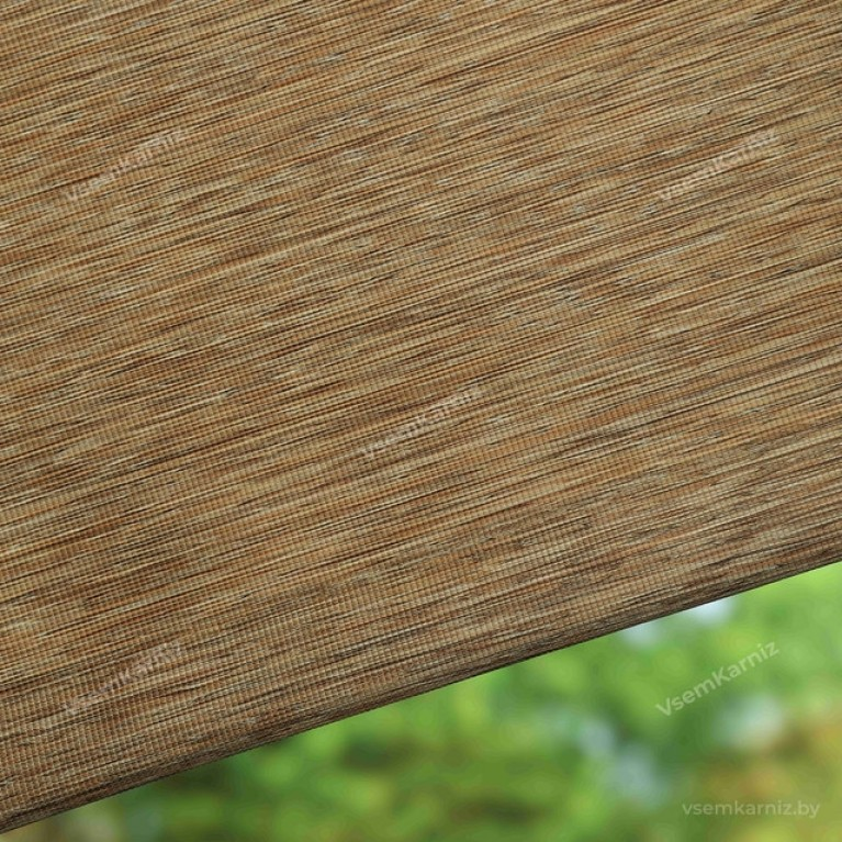 Рулонная штора LmDecor «Кантри 03» светло-коричневая с комплектом направляющих