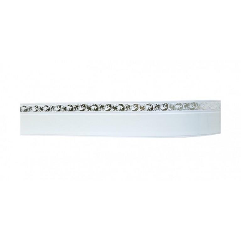 Лента «Ажур А3» Белое серебро 5см