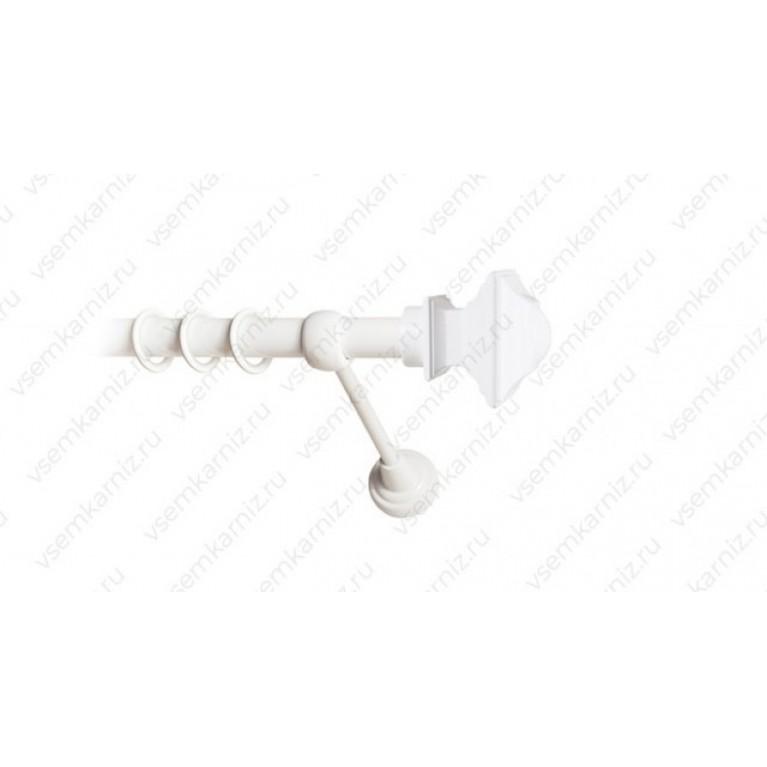 Карниз «Верди» 19мм Белый глянец