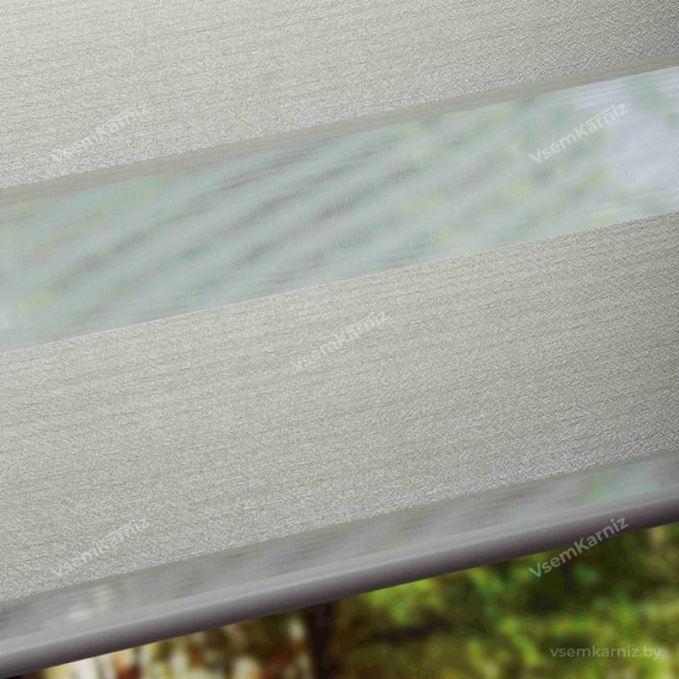 Рулонная штора LmDecor День-Ночь «Марсель 02» светло-кремовая с комплектом алюминиевых направляющих