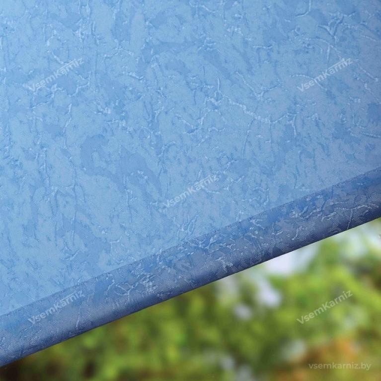 Рулонная штора «Жаккард 06» Голубая с комплектом направляющих