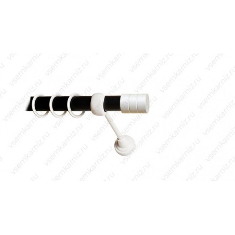 Карниз «Цилиндр» 25мм combi черный матовый
