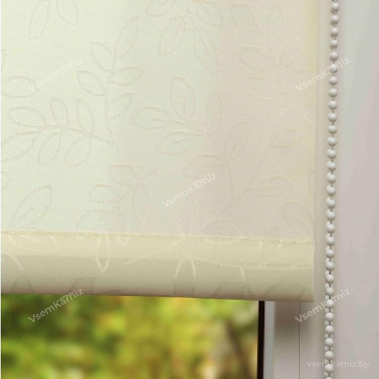 Рулонная штора LmDecor «Сакура 01» Кремовая
