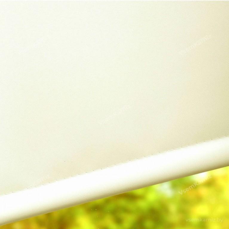 Рулонная штора БЛЭКАУТ «Симпл 03» Кремовый с комплектом направляющих