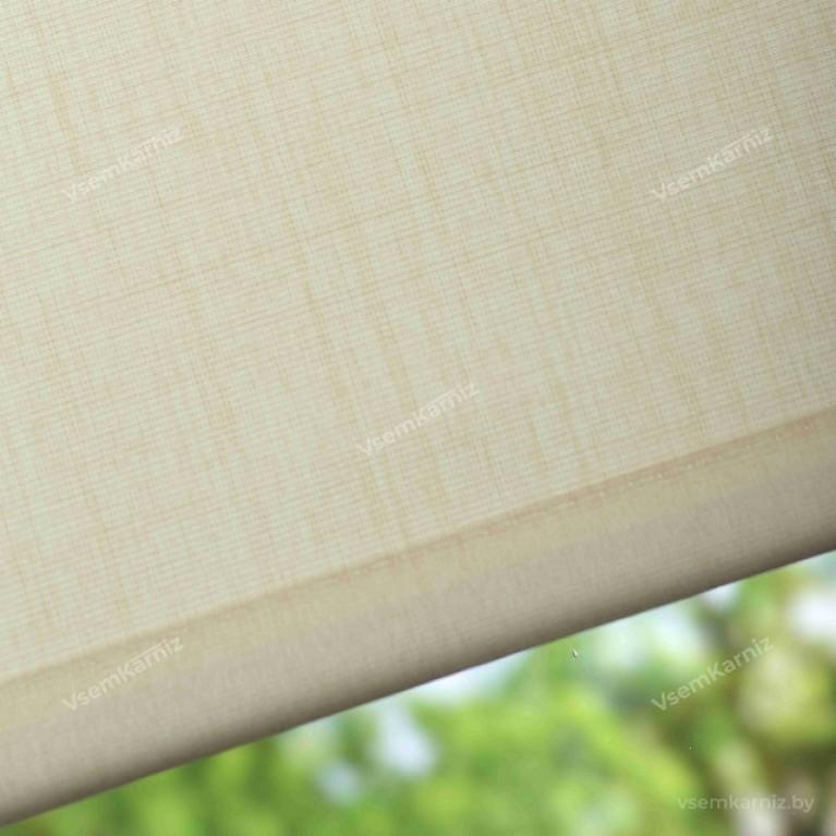 Рулонная штора LmDecor «Урбан 01» лен в коробе с направляющими