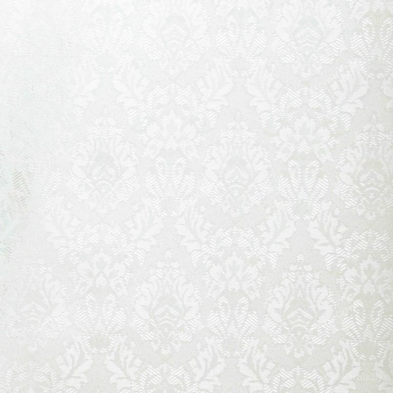 Рулонная штора БЛЭКАУТ «Ампир 07» Белая с комплектом алюминиевых направляющих