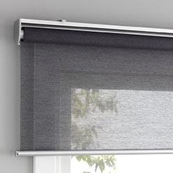 Серые рулонные шторы